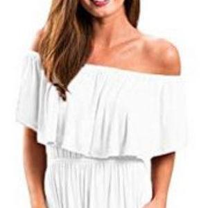 Bolomi Womens Ruffle Top Maxi Dress